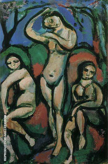 Reproduction of Nudes 1914 by George Rouault | Oil Painting Replica On CanvasReproduction Gallery