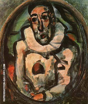 Reproduction of White Pierrot 1911 by George Rouault | Oil Painting Replica On CanvasReproduction Gallery