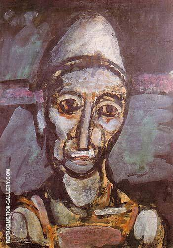 Reproduction of The Old Clown 1917 by George Rouault | Oil Painting Replica On CanvasReproduction Gallery
