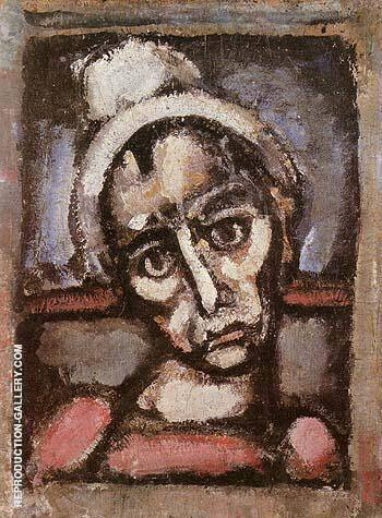 Reproduction of Don t We All Wear Makeup 1930 by George Rouault | Oil Painting Replica On CanvasReproduction Gallery