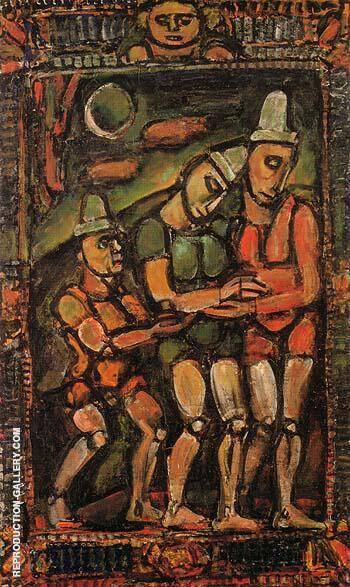 Reproduction of The Injured Clown I 1932 by George Rouault | Oil Painting Replica On CanvasReproduction Gallery