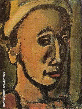 Reproduction of Songe Creux Dreamer 1946 by George Rouault | Oil Painting Replica On CanvasReproduction Gallery