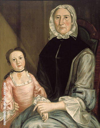 Portrait of Abigail Gerrish c1750 By John Greenwood