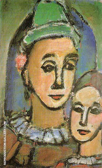 Duo The Two Brothers 1948 By George Rouault Replica Paintings on Canvas - Reproduction Gallery
