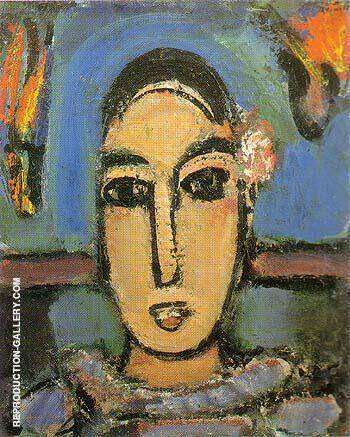 Pierrot 1937 By George Rouault - Oil Paintings & Art Reproductions - Reproduction Gallery