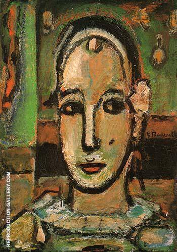 Pierrot 1948 By George Rouault Replica Paintings on Canvas - Reproduction Gallery