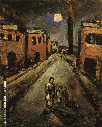 Christ in the Suburbs 1920 By George Rouault