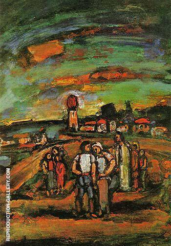 Twilight The Seashore 1939 By George Rouault - Oil Paintings & Art Reproductions - Reproduction Gallery
