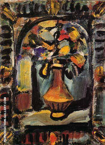 Decorative Flowers 1939 By George Rouault Replica Paintings on Canvas - Reproduction Gallery