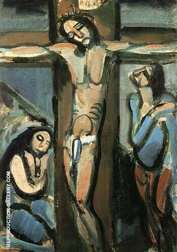 Crucifixion 1914 By George Rouault Replica Paintings on Canvas - Reproduction Gallery