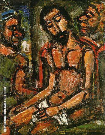 Christ Mocked by Soldiers 1932 By George Rouault