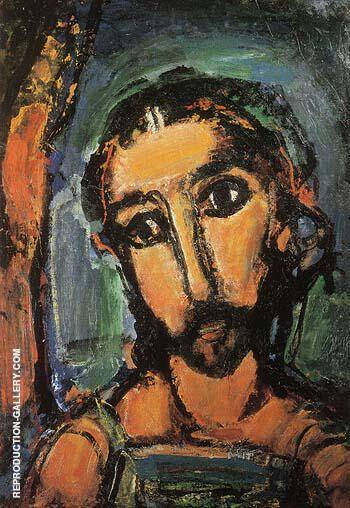Head of Christ Passion 1937 By George Rouault Replica Paintings on Canvas - Reproduction Gallery