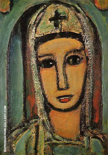 Reproduction of Veronica 1945 by George Rouault | Oil Painting Replica On CanvasReproduction Gallery