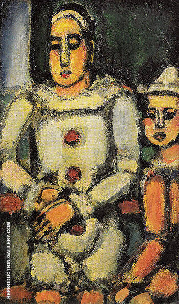 Two Clowns c1935 By George Rouault