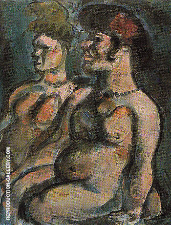 Two Nudes c1906 By George Rouault