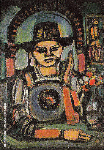 The Chinese Man 1937 By George Rouault Replica Paintings on Canvas - Reproduction Gallery