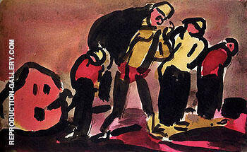 Faubourg c1910 By George Rouault Replica Paintings on Canvas - Reproduction Gallery
