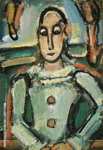 Pierrot c1937 B Painting By George Rouault - Reproduction Gallery