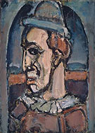 Profile of a Clown c1940 By George Rouault