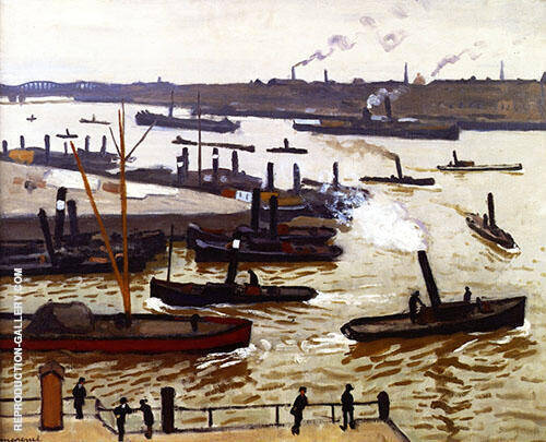 Rotterdam 1914 Painting By Albert Marquet - Reproduction Gallery
