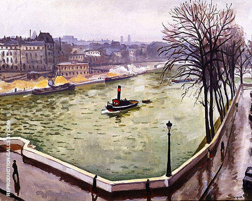 La Seine a Paris 1914 By Albert Marquet Replica Paintings on Canvas - Reproduction Gallery