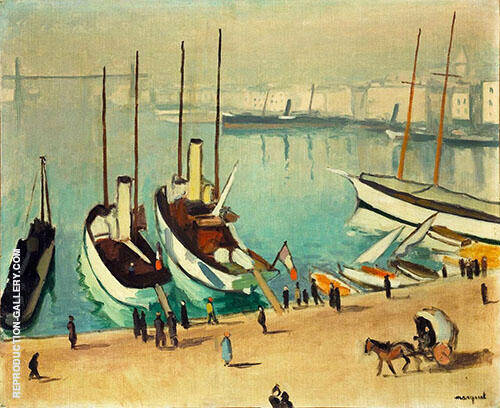 Reproduction of Le Vieux Port a Marseille 1917 by Albert Marquet | Oil Painting Replica On CanvasReproduction Gallery