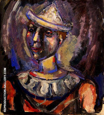 Portrait of a Clown c1938 By George Rouault