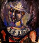 Portrait of a Clown c1938 By George Rouault