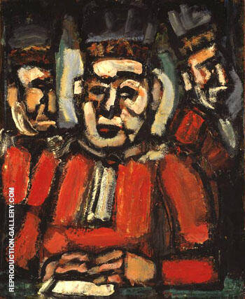The Tree Judges c1936 By George Rouault Replica Paintings on Canvas - Reproduction Gallery