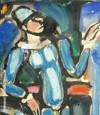 Auguste By George Rouault - Oil Paintings & Art Reproductions - Reproduction Gallery