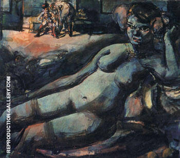 Odalisque 1906 Painting By George Rouault - Reproduction Gallery