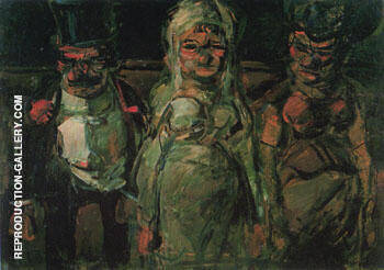 Reproduction of Pitch Ball Puppets The Birde 1907 by George Rouault | Oil Painting Replica On CanvasReproduction Gallery