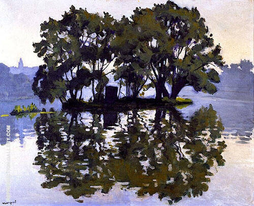 Reproduction of L'Ile aux Cygnes 1919 by Albert Marquet | Oil Painting Replica On CanvasReproduction Gallery