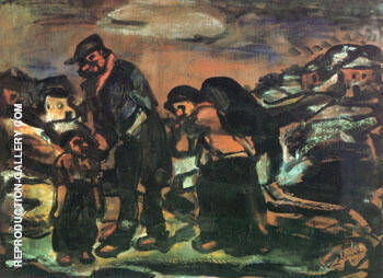 The Fugitives Exodus 1911 By George Rouault