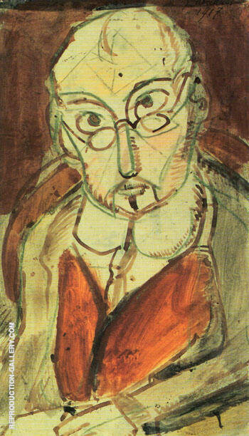 Man with Spectacles 1917 By George Rouault