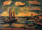 Fishing Boat at Sunset 1939 By George Rouault