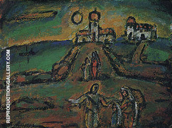 Autumnal Night Landscape 1952 By George Rouault
