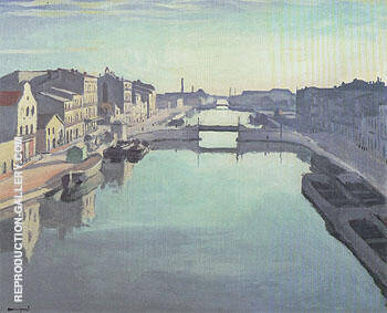 Sete le Canal de Beaucaire 1924 By Albert Marquet Replica Paintings on Canvas - Reproduction Gallery