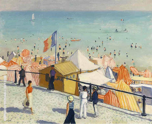 Reproduction of Ete La Plage Des Sables d'Olonne 1933 by Albert Marquet | Oil Painting Replica On CanvasReproduction Gallery
