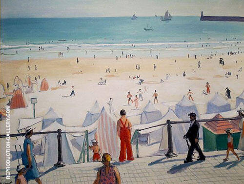 Reproduction of Plage des Sables d'Olonne 1933 by Albert Marquet | Oil Painting Replica On CanvasReproduction Gallery