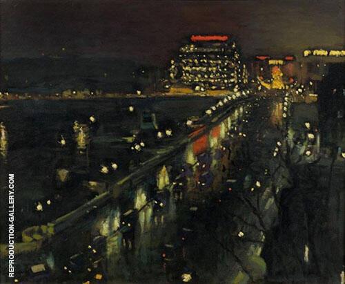 Le Pont Neuf La Nuit 1935 Painting By Albert Marquet