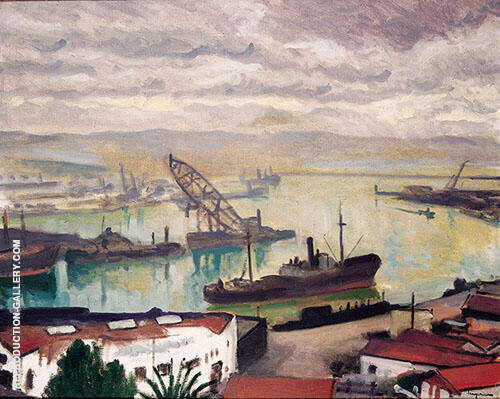 Port d'Alger 1935 Painting By Albert Marquet - Reproduction Gallery