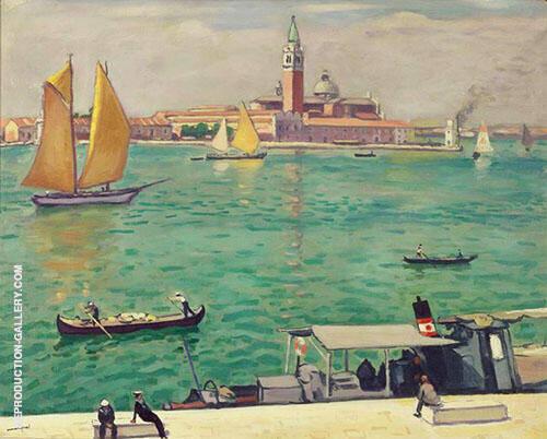 Venise La Voile Jaune 1936 Painting By Albert Marquet