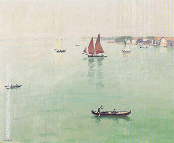 La lagune a Venise 1936 Painting By Albert Marquet - Reproduction Gallery