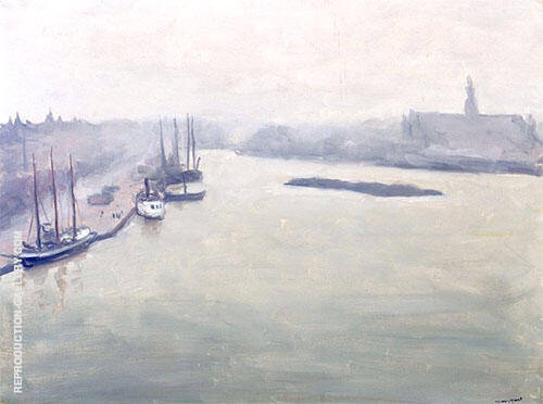 Brume a Stockholm 1938 By Albert Marquet Replica Paintings on Canvas - Reproduction Gallery
