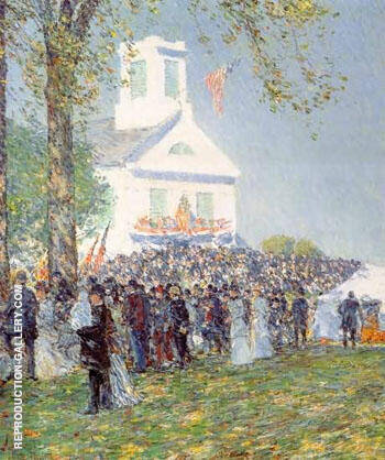 County Fair New England By Childe Hassam