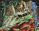Steamer Odin I Leviathan 1917 By Lyonel Feininger