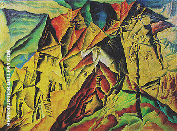 Denstedt 1917 Painting By Lyonel Feininger - Reproduction Gallery