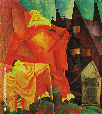 The Red Clown 1919 By Lyonel Feininger - Oil Paintings & Art Reproductions - Reproduction Gallery