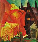 The Red Clown 1919 By Lyonel Feininger